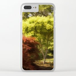 A Walk In The Woods Painting Clear iPhone Case