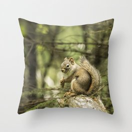Who You Calling Squirrelly? Throw Pillow