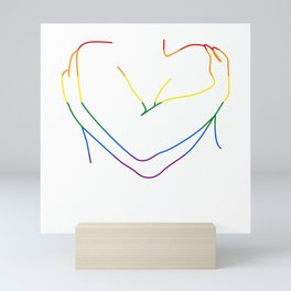 Body Positivite Lineart LGTB embrace Mini Art Print