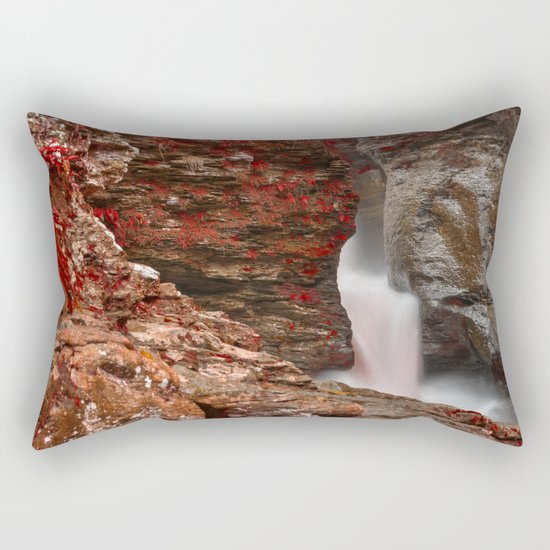 Blood Lust Falls Rectangular Pillow