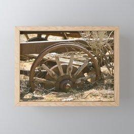 wagon wheel Framed Mini Art Print