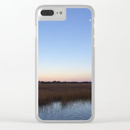marsh sunset Clear iPhone Case