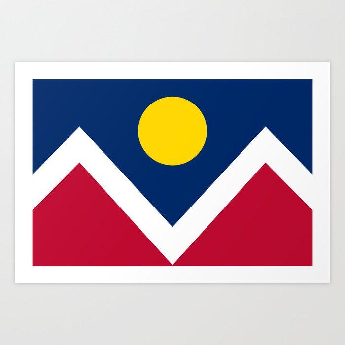 Denver City Flag Kunstdrucke