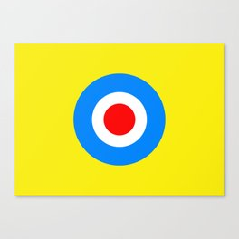 Yellow POP Culture Canvas Print