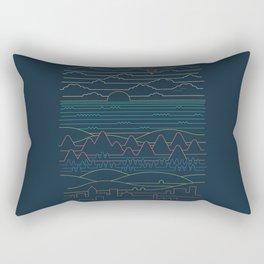 Linear Landscape Rectangular Pillow