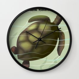 Ascension Islands travel poster Wall Clock