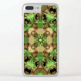 Growth Octagon Mandala Clear iPhone Case