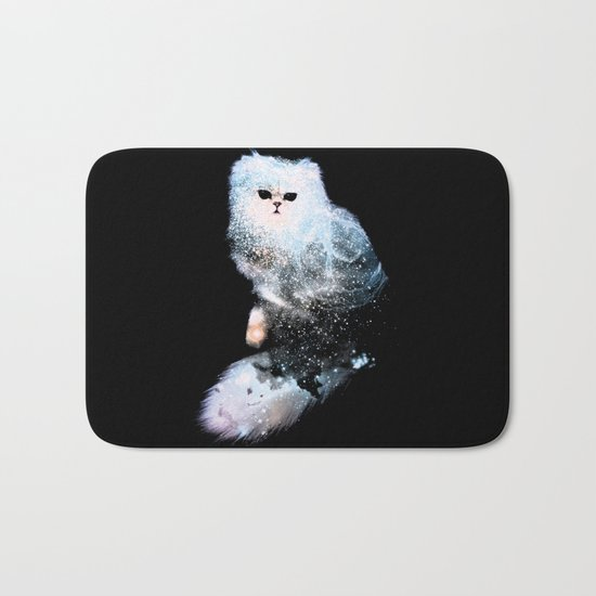 Celestial Cats - The Persian and the Ashes of the First Stars Bath Mat