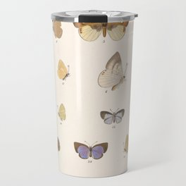 Vintage Hand Drawn Scientific Illustration Insects Butterfly Anatomy Colorful Wings Travel Mug