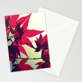 Retro Red Stationery Cards