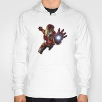 ironman Hoodies featuring IRONMAN by Yuliya L