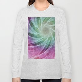 Whirlpool Diamond 2 Computer Art Long Sleeve T-shirt