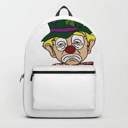 Sad Clown Face Backpack