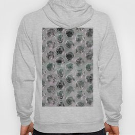 bubble foil white and black Hoody
