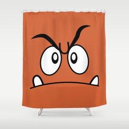 Minimalist Goomba Shower Curtain
