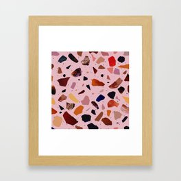 Terrazzo Rosé Framed Art Print