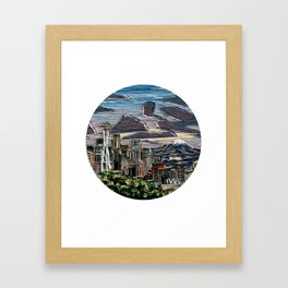 Seattle in the Spring Framed Art Print