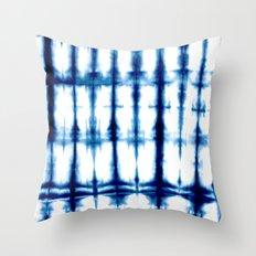 Indigo Dyed Stripe Throw Pillow