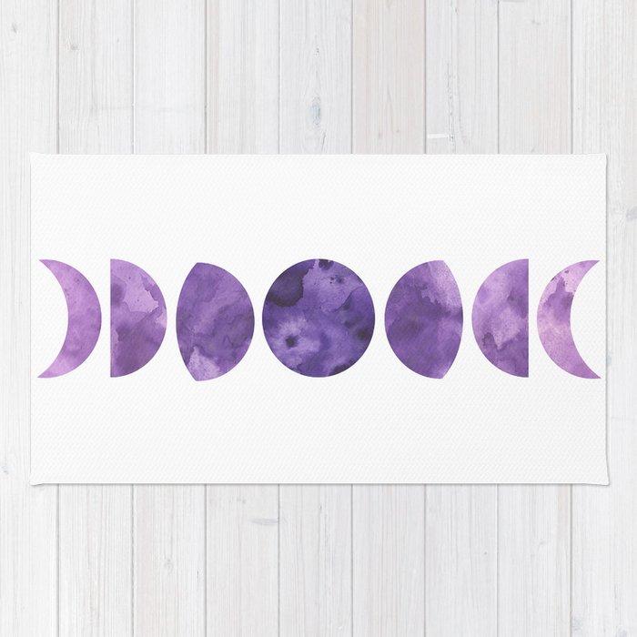 Lunar Phases in Violet Rug