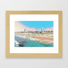 Santa Monica. Framed Art Print