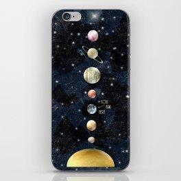 solar system iPhone Skin