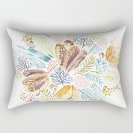 Tiny house in the whimsical garden Rectangular Pillow