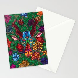 Dragon in Flowers Stationery Cards