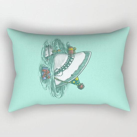 Happy Birthday Shark Rectangular Pillow