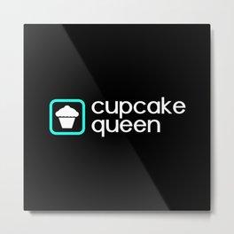Cupcake Queen (Blue) Metal Print
