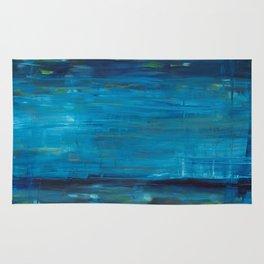 blue vertical Rug