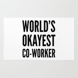 World's Okayest Co-worker Rug