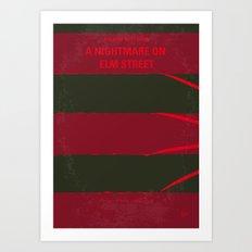 No265 My NIGHTMARE ON ELMSTREET minimal movie poster Art Print