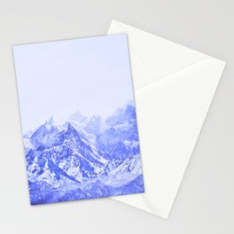 Mountains Blue Stationery Cards