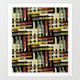 Tribal Abstracts 1 Art Print