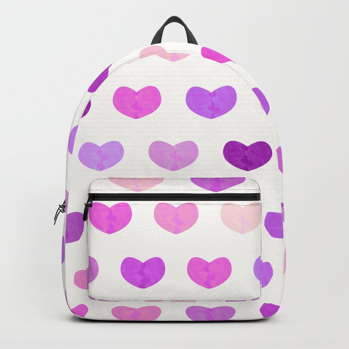 Colorful Cute Hearts IV Backpack