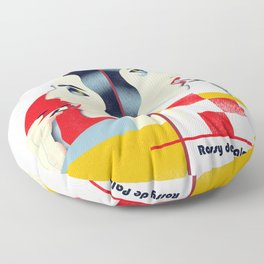 Famous people in a bauhaus style - Rossy de Palma Floor Pillow