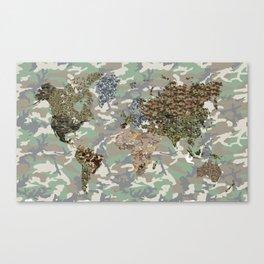 CAMO WORLD ATLAS MAP (camo) Canvas Print