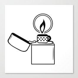Lighter Black on White Canvas Print