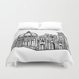 Florence Duomo Drawing Duvet Cover
