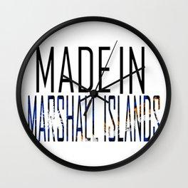 Made in Marshall Islands Wall Clock