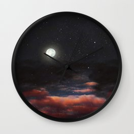 Dawn's moon Wall Clock