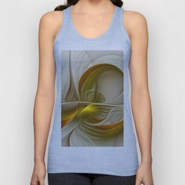 Abstract With Colors Of Precious Metals 2 Unisex Tank Top