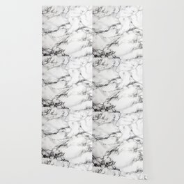 Greyish White Marble Wallpaper