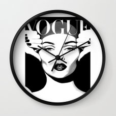 ... VOGUE PRINT Fashion Poster Digital Download Printable Art Retro Poster  Modern Wall Art Vintage Wall Clock ...