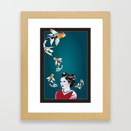 Koi's in and out of my Mind Framed Art Print
