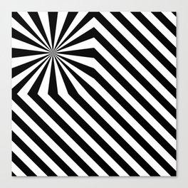 Stripes explosion - Black Canvas Print