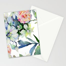 Watercolor Floral Design Collection: Spring Victory Garden Stationery Cards