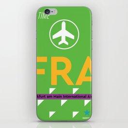 Airport code FRA Frankfurt iPhone Skin