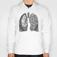 lungs Hoodies featuring Lungs by ericajc