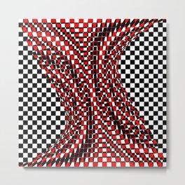 black white red 4 Metal Print